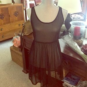 Sheer dress.